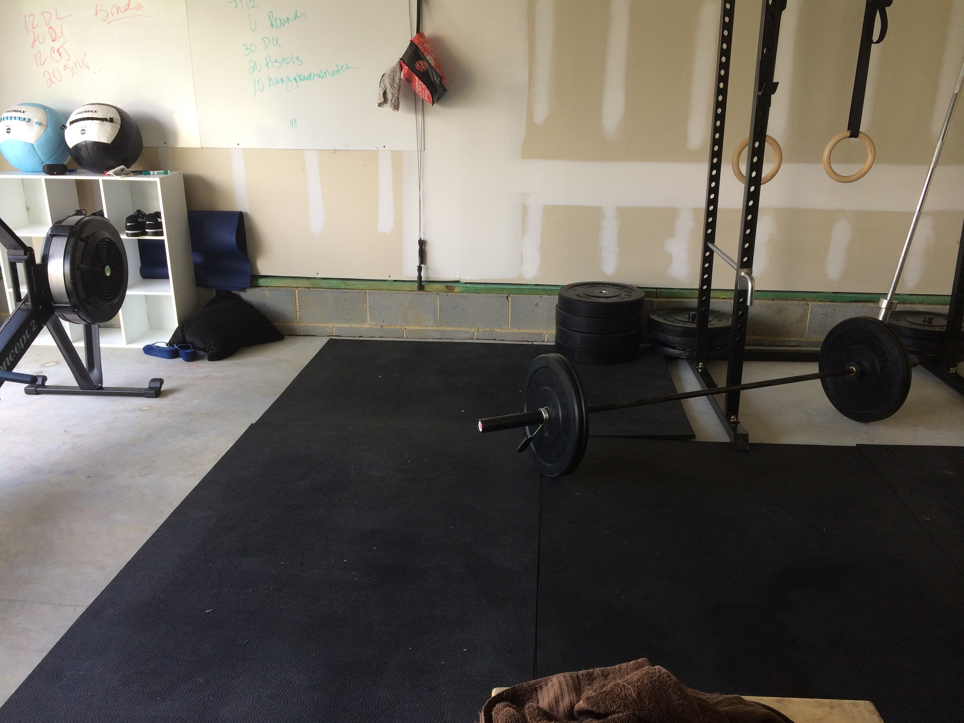 Garage gym mixed emotions crossfit contessa in progress